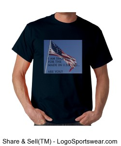 Made in U.S.A. Tag - Unisex Navy Design Zoom