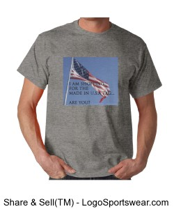 Made in U.S.A. tag - Unisex Sport Grey Design Zoom