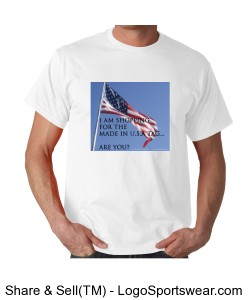 Made in U.S.A. tag - Unisex White Design Zoom